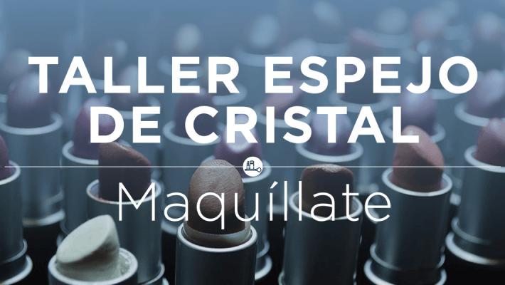taller de maquillaje y espejo de cristal
