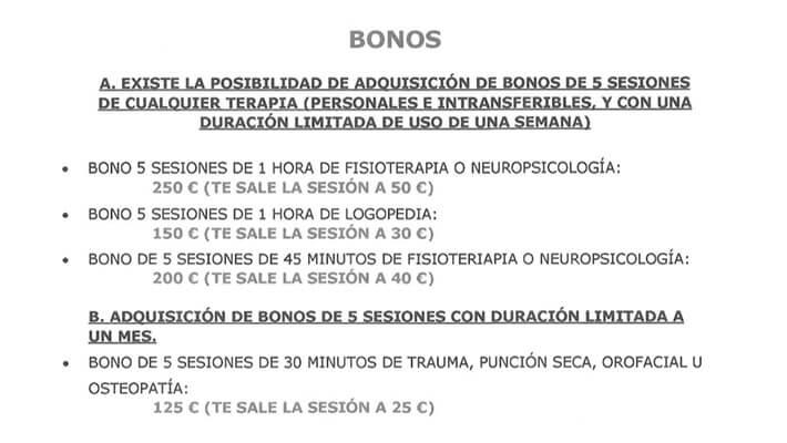 bonos de sesiones de crene